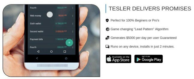 tesler app features